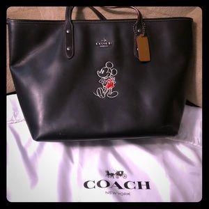 COACHxDisney soft leather tote
